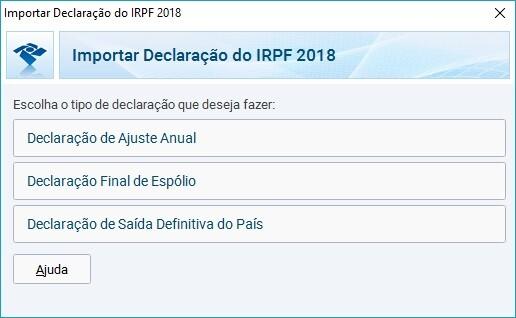 importar declaracao irpf 2019